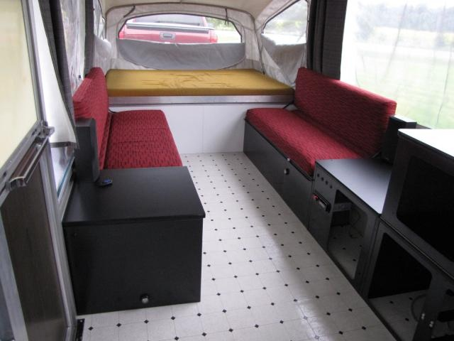 my '73 Coleman Brandywine resto... Great for an older pop up camper they were so bland but this is cool and not too girly.....(nothing wrong with girly, but I am a guy)