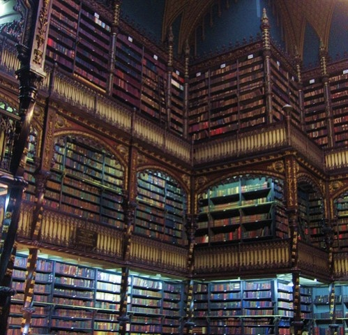 (To visit) Real Gabinete Portugues De Leitura Rio De Janeiro, Brazil (Possibly the most beautiful library of them all.)