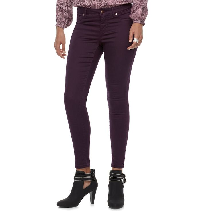 Women's Jennifer Lopez Super Stretch Skinny Jeans, Drk Purple