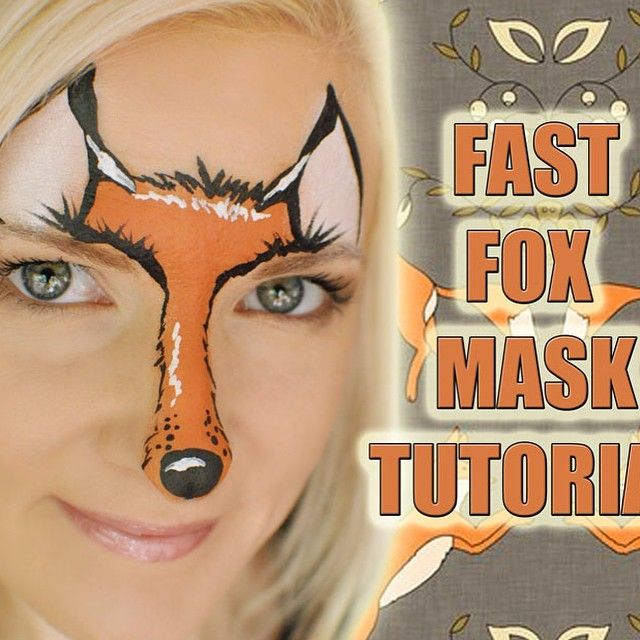 This cute & simple #fox mask was inspired by Lizz Daley of Face Fun Utah - tutorial is up on my @youtube channel! @mehronmakeup @globalcolours #whatdoesthefoxsay #foxy #foxylady #foxmask #facepaint #facepainter #facepainting #facepaintforum