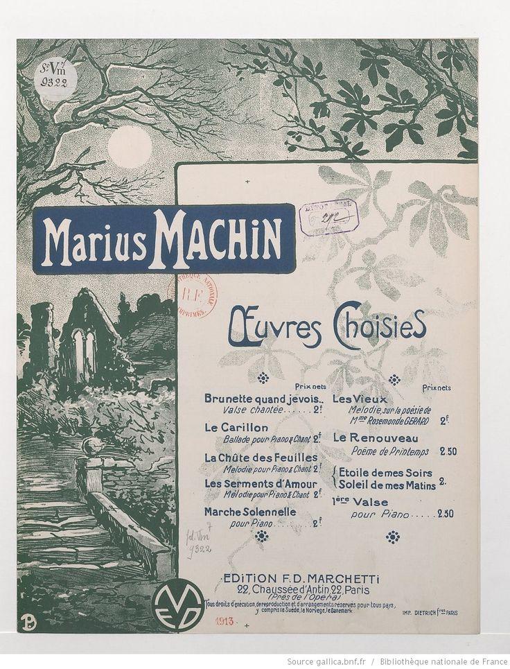 La Chute des feuilles. Paroles et musique de Marius Machin