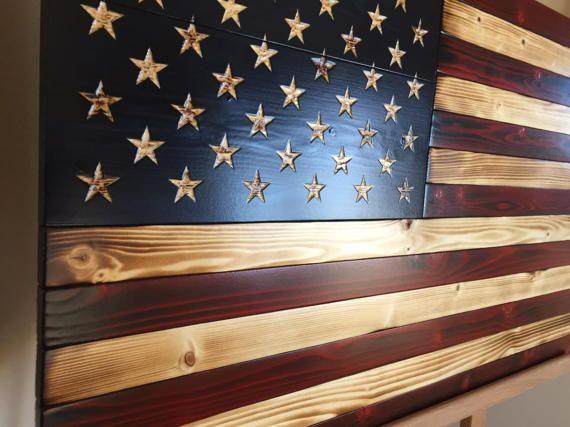 Old Glory Battlefield Flag Rustic American by AmericanGruntUSA