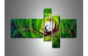 An abstract oil painting of stunning green and shapes from www.AbstractArtwork.com. Get it for $205 just now from http://abstractartwork.com/abstract-painting-usa-canada?product_id=171