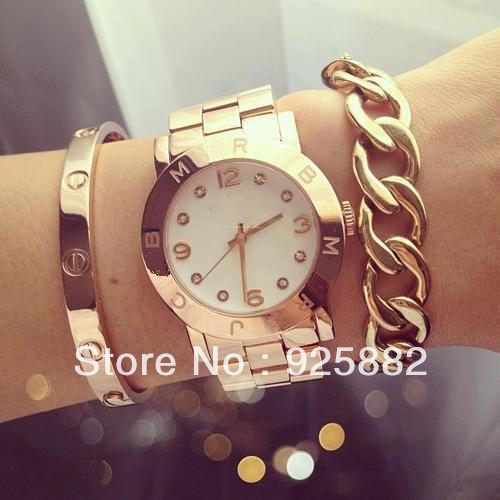 Hottest Moda Luxo MJ famosa marca Mulheres Rhinestone Relógios Com 5 Cor disponível 18.00