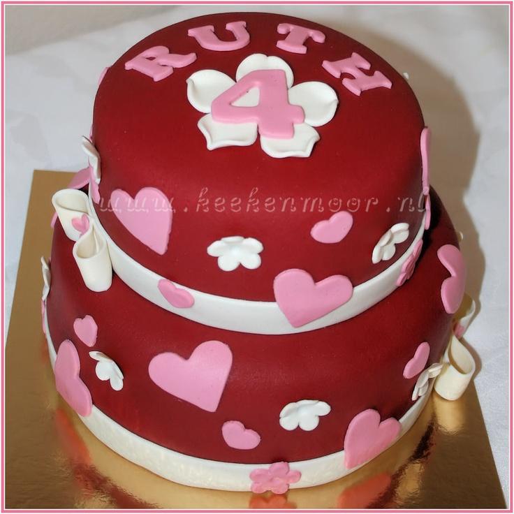 Lieve hartjes taart