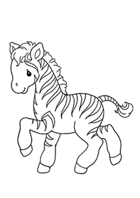 Animated Cute Zebra Coloring Page For Kids In 2020 Zebra Coloring Pages Coloring Pages Cute Coloring Pages