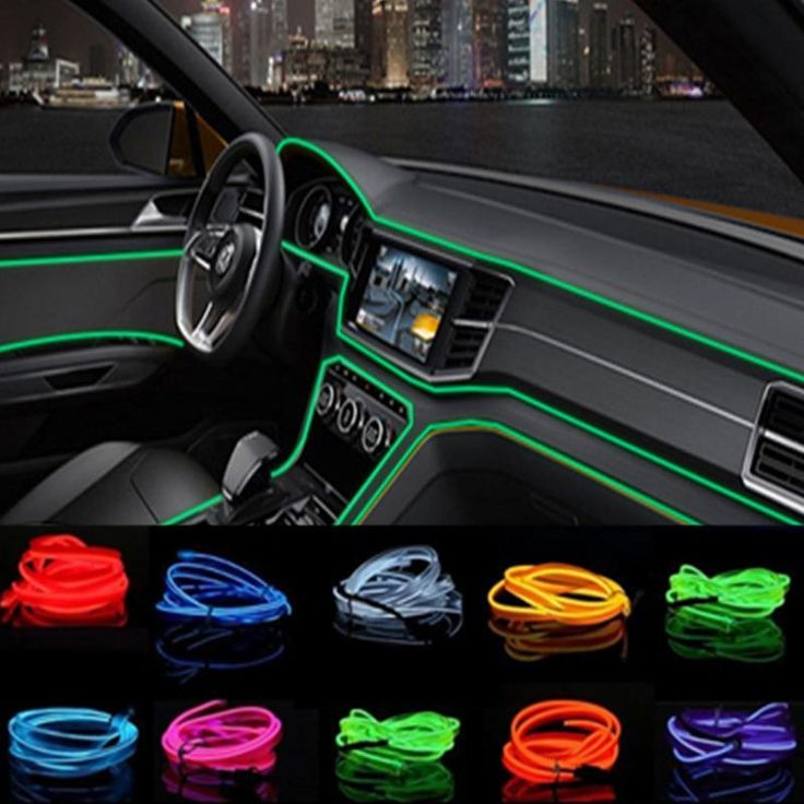 Car Interior LED EL Wire Rope Tube Line Strip For Bmw E46