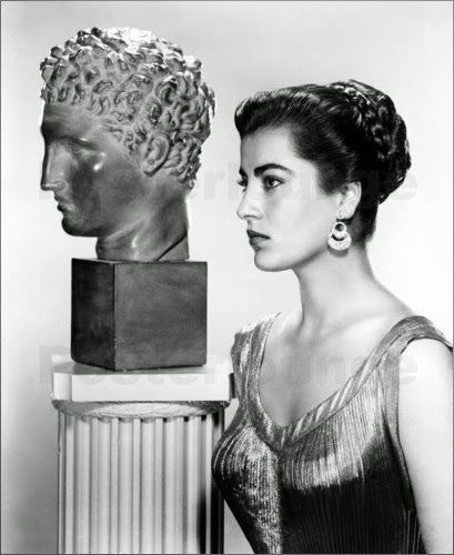 I Love Greece - Xaris Xaris originally shared:  The personification of ancient beauty. Some things do not change! Irene Papas, Greek actress (1956)
