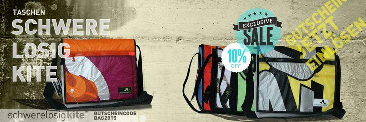 Check dir dein Unikat! Jetzt Schwerelosigkite Tasche kaufen und sparen! 10% Rabatt auf alle Schwerelosigkite Taschen im Kiteshop! www.kiteladen.at #Kiteladen #Kiteshop #Tasche #Gutschein