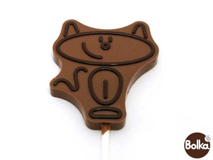 Chocolate lollipop/csokoládé nyalókák (cat/macska)