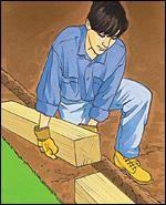 Installing Landscape Timber Edging