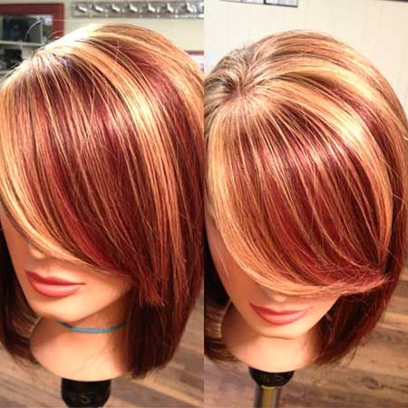 Red Hair with Highlights