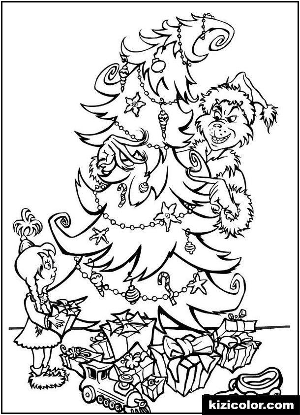 Grinch Christmas Tree Coloring Page Christmas Tree Coloring Page Printable Christmas Coloring Pages Christmas Coloring Sheets