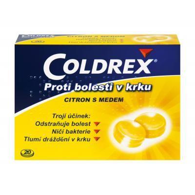 Ilustrační obrázek léčiva Coldrex proti bolesti v krku citron s medem. Příbalový leták Coldrex proti bolesti v krku citron s medem nalezntene na http://www.pribalovy-letak.cz/202-coldrex-proti-bolesti-v-krku-citron-s-medem