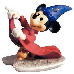 WDCC Disney Classics Fantasia Sorcerer Mickey Mischievous  Apprentice #WDCCDisneyClassics #Art. Platinum Symbols: The stars and moons on Mickey's hat are platinum. Retired 02/95.