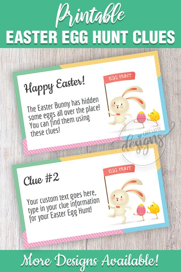 photo about Clue Cards Printable referred to as Easter Egg Hunt Clues, Editable Easter Scavenger Hunt Clue