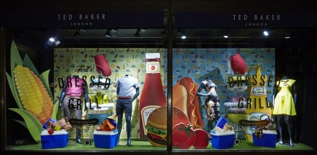 PLANarama produced this window for Ted Baker.