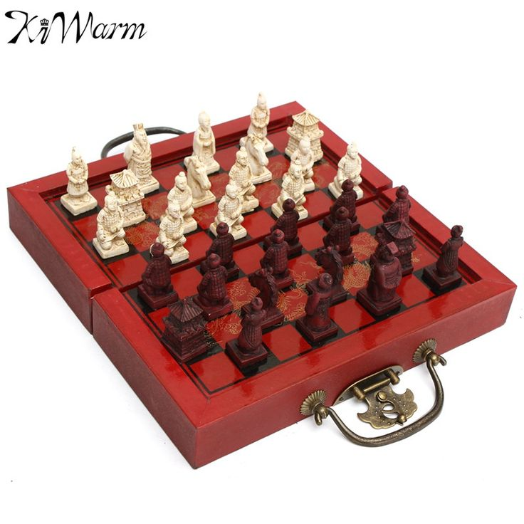 ==> [Free Shipping] Buy Best KiWarm Decoration Craft Chinese Antique Figurines Chess Set Miniature Chess Travel Games Draughts Entertainment Business Gift Online with LOWEST Price | 32791222659