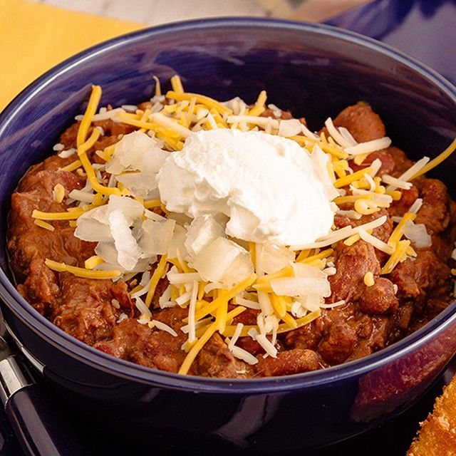We love a good chili recipe! Especially one you make using a slow cooker! #LowCarb #Chili #Atkins