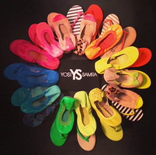 Yosi Samra flats come in many colors!