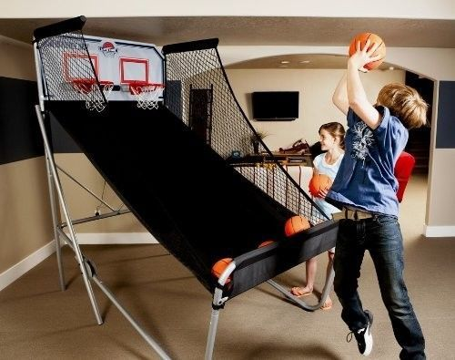 Electronic Basketball Game Indoor Shoot Out Dual 2 Players Hoops Led Scoring VS
