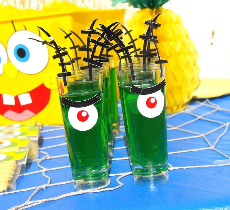 Plankton Jello Cups this could be cute as grown up shooters