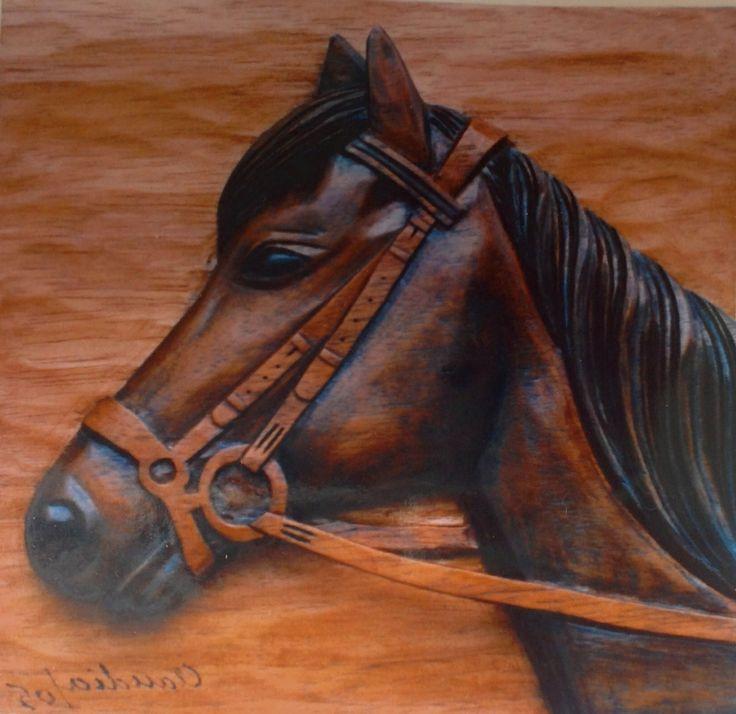 """Talla en Madera """" caballo """""""