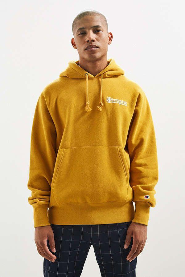 8fba8efc8d9f Champion Triple Script Reverse Weave Hoodie Sweatshirt   Urban Outfitters