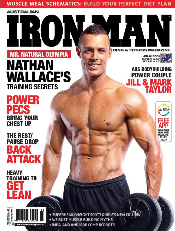 The cover from the day! Filming the behind the scenes of an #IronMan Magazine Australia cover shoot, with world-class #bodybuilders thanks to Gen-Tec #nutrition, in #Melbourne.