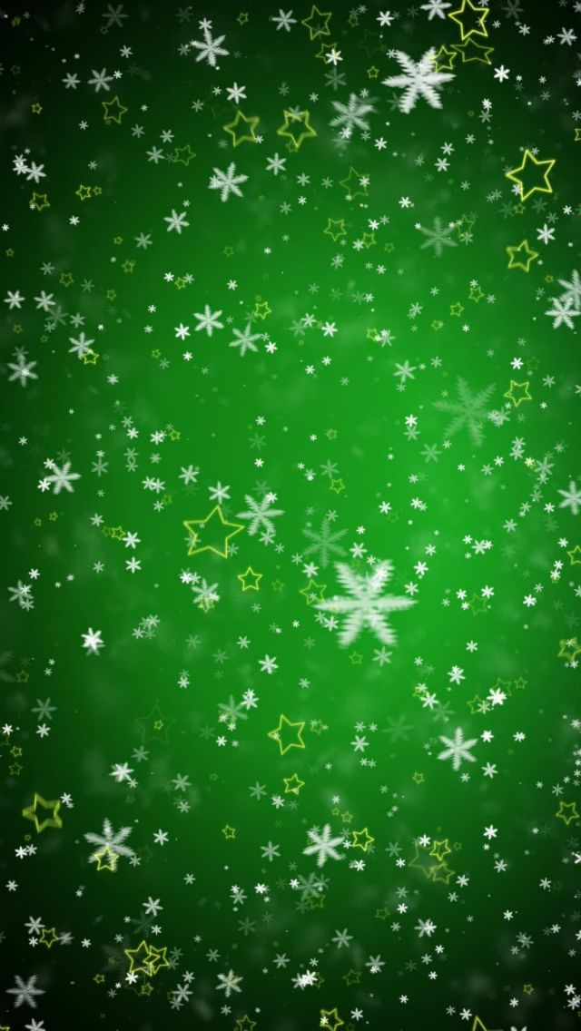 Tap Image For More Christmas Wallpapers Green Snowflakes