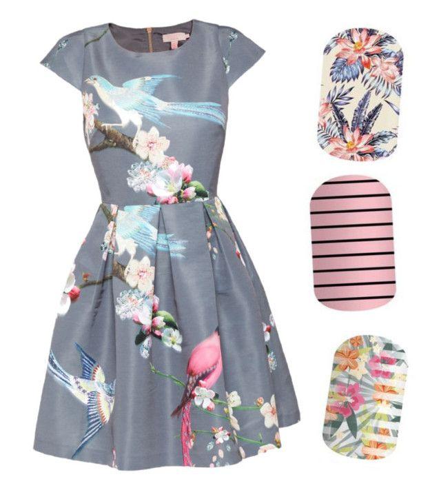 Which wrap would you choose for this gorgeoua dress? #BeverleyHillsJN #KingstonJN #TikiHutJn  www.sochicnails.com.au   #Jamberry #JamberryNails #NailArt #NailWraps #ImAJamGirl #WomensFashion