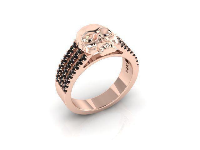 Secret Skull Engagement Ring 14K ROSE GOLD-UDINC0506