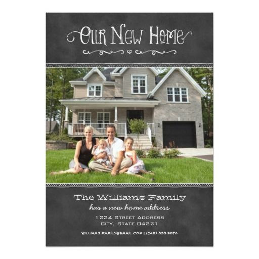 "Photo Moving Announcements | Our New Home 5"" X 7"" Invitation Card"