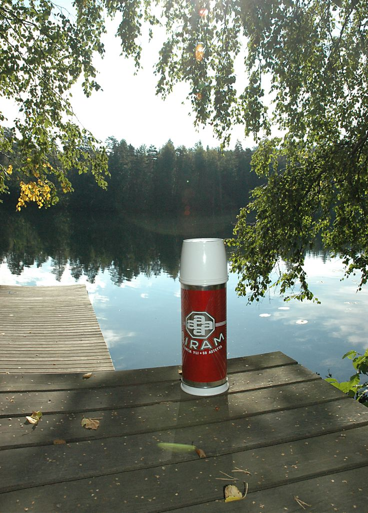 Coffe break on a pier with Airam thermos