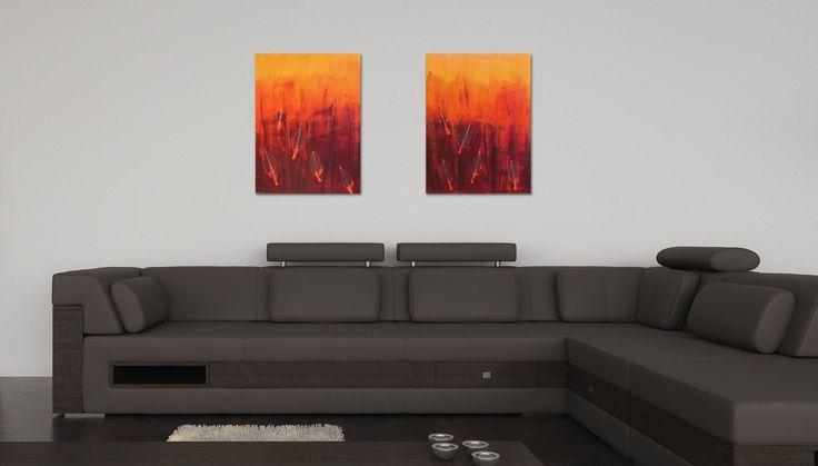 Fiery Leaves I & II