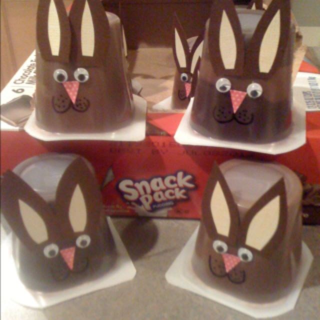 **pinning for when its our turn to bring the prepackaged snack for preschool** Decorate pudding cups for Preschool snacks