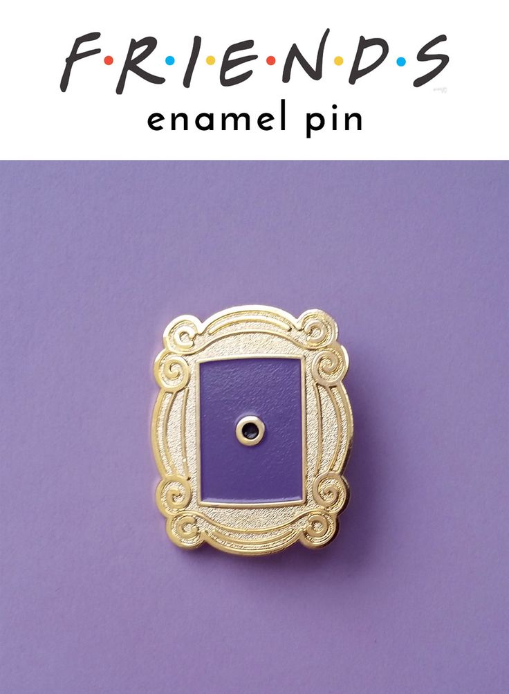 Friends Peephole Frame enamel pin - if you're a fan of this funny TV show you need this lapel pin to showcase the love so other fans can recognize you instantly! Also perfect as a gift for a friend. This iconic Monica's peephole frame has been featured in numerous episodes as decor in friends' apartment. And now this mini reproduction is available so you can display it on your jacket or backpack! Friends merchandise | Friends peephole frame mini replica #ad #etsy #enamelpin #pingame