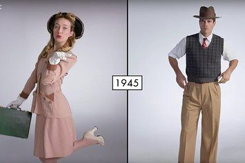 Watch 100 Years Of Men And Women's Fashion In Under 3 Minutes