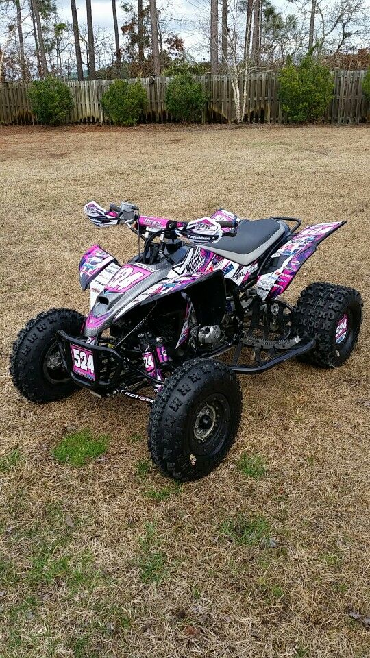 My 2008 Yamaha yfz 450 I bought in the off season of 2014. We made progress with this quad in the 2015 race season. We had the precision stabilizer packed an regreased, Fox shocks serviced and tweaked the camber in the front. By far my favorite quad I've ever owned!