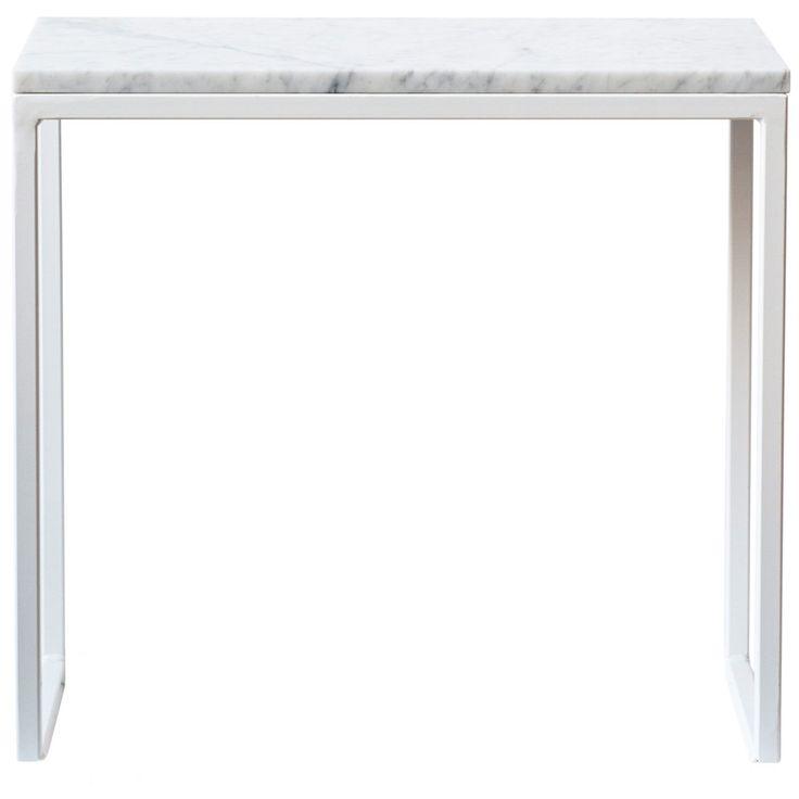 Marmor sidobord, vit i gruppen Möbler / Bord / Sidobord & Småbord hos RUM21.se (1025154)