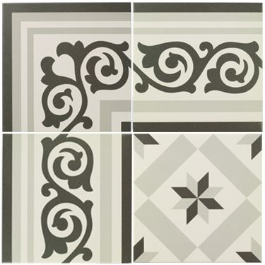 Sucre Border - Patisserie - Wall & Floor Tiles   Fired Earth