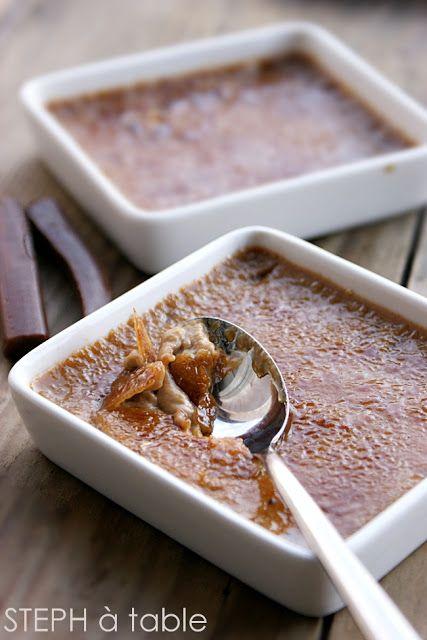 Crème brulée aux carambars :   Stephatable