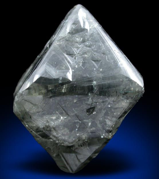Uncut rough Diamond (26.52 carat gray octahedral crystal) from Russia