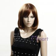synthetic japanese rinka hairdo short brown straight hair wigs for young women girls ladies.