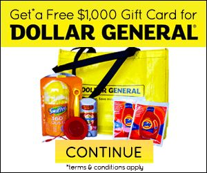 Free $1000 Dollar General Gift Card | Free Gift Cards | Pinterest ...