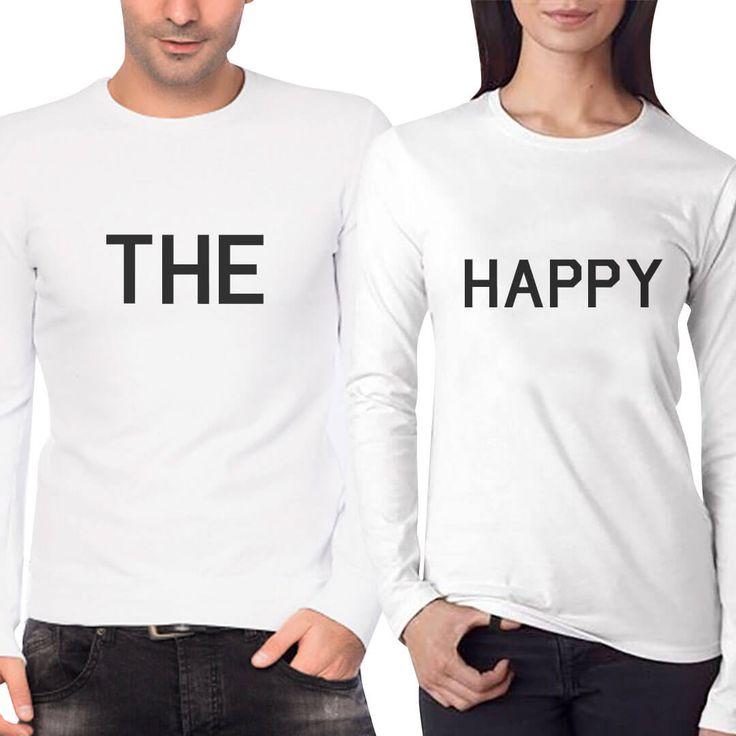 Mutluluk paylaştıkça çoğalır ;) THE HAPPY YAZILI MUTLU ÇİFT TİŞÖRTLERİ  https://modacix.com/sevgili-kombinleri/cift-sevgili-tisortleri/mutlu-cift-tisortleri   #çifttişörtleri #sevgilikombinleri #sevgilitişörtleri #sevgili #hediye #sevgiliyehediye #happy