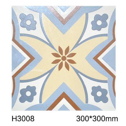 罗浮威尔西班牙抽象几何风格 厨房 卫生间  酒吧 咖啡厅300小花砖