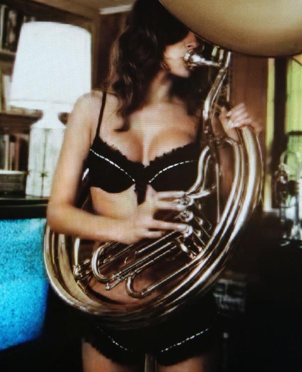 Photos nude girls playing tuba