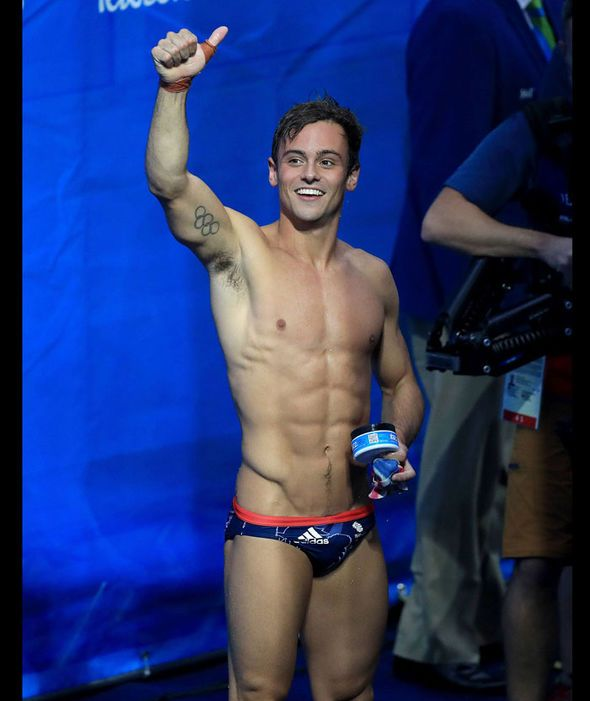 Great Britain's Tom Daley celebrates winning bronze in the Men's Synchronised 10m Platform Final at the Maria Lenk Aquatics Centre on the third day of the Rio Olympic Games, Brazil [PA]