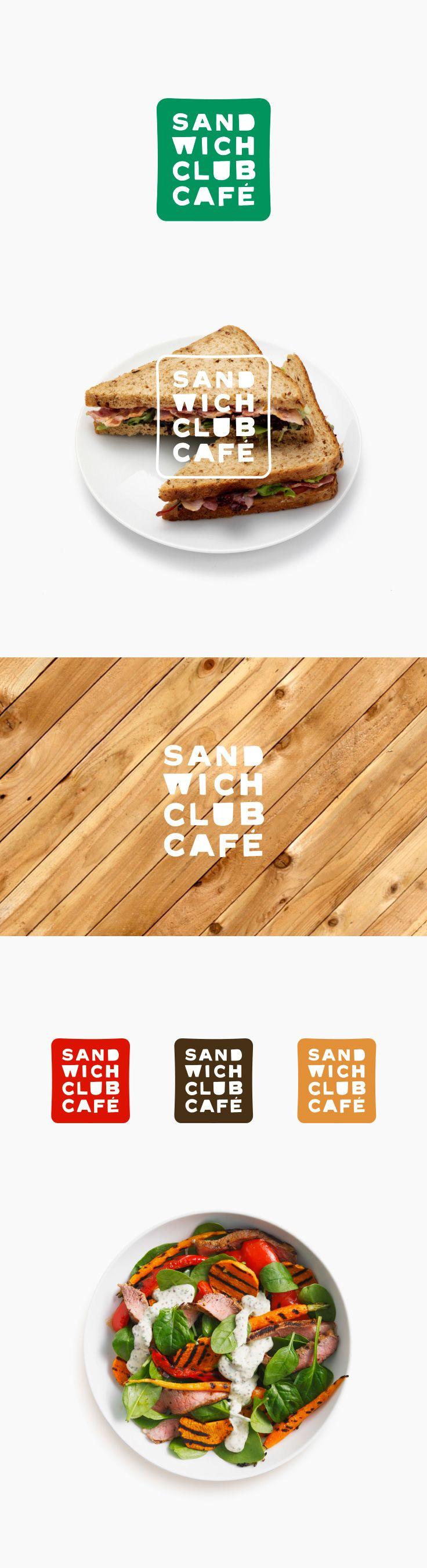 Sandwich Club Cafe new logo design by Soda Comunicacion a Madrid based studio.